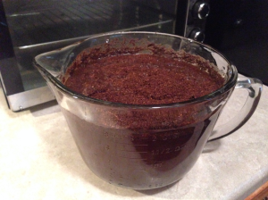 Soak the 8 ounces of coffee in 2 quarts of water